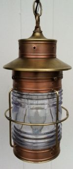 CCL Cape Cod Anchor Hanging Lantern Medium Caged