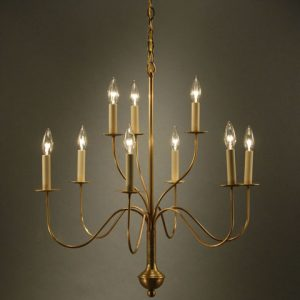 CCL968 Nine-Arm Brass Chandelier