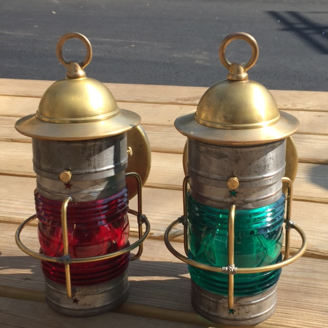 Cape Cod Wall Small Port and Starboard Lanterns